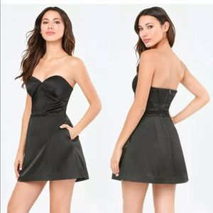 NWT Black Angela Sculpted Sweetheart Bebe Dress